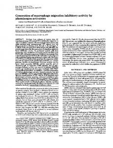 Generation of macrophage migration inhibitory activity by ...