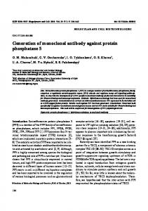 Generation of monoclonal antibody against protein ... - eLibrary
