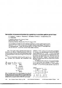 Generation of picosecond pulses by a gadolinium