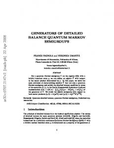 Generators of Detailed Balance Quantum Markov Semigroups