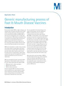 Generic manufacturing process of Foot & Mouth ... - EMD Millipore