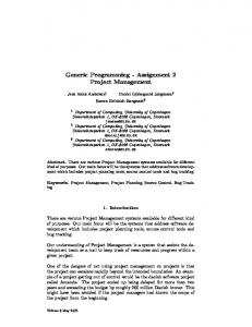 Generic Programming - Assignment 2 Project Management