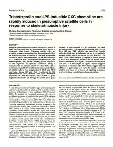Genes activated by skeletal muscle injury - Journal of Cell Science