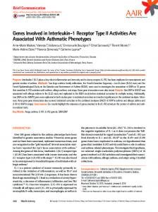 Genes Involved in Interleukin-1 Receptor Type II Activities Are