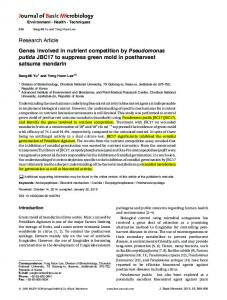 Genes involved in nutrient competition by Pseudomonas putida ...
