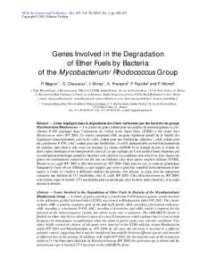genes involved in the degradation of ether fuels by ...