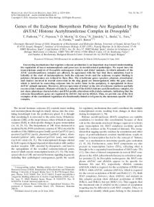 Genes of the Ecdysone Biosynthesis Pathway Are Regulated by the ...