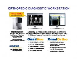Genesis Orthopedic Workstation - Genesis Digital Imaging