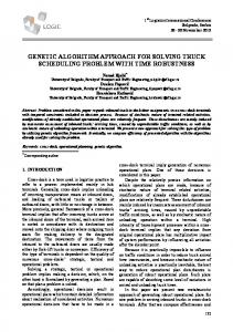 genetic algorithm approach for solving truck scheduling problem with ...