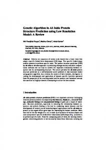 Genetic Algorithm in Ab Initio Protein Structure Prediction ... - CiteSeerX