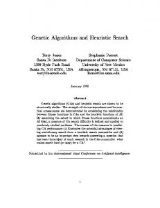 Genetic Algorithms and Heuristic Search - Semantic Scholar