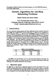 Genetic Algorithms for Job-Shop Scheduling ... - Semantic Scholar