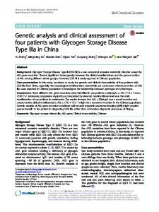 Genetic analysis and clinical assessment of four patients with ...