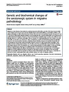 Genetic and biochemical changes of the serotonergic system in ...