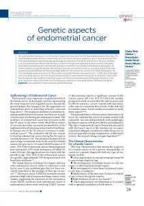 Genetic aspects of endometrial cancer