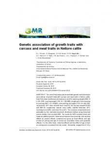 Genetic association of growth traits with carcass and ... - Funpec-RP