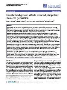 Genetic background affects induced pluripotent stem ... - BioMedSearch