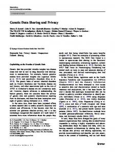 Genetic Data Sharing and Privacy