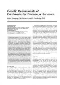Genetic determinants of cardiovascular disease in Hispanics ...
