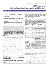 Genetic Diagnosis of Fanconi Anemia
