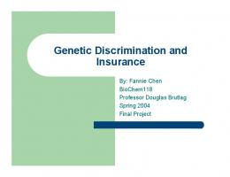 Genetic Discrimination and Insurance