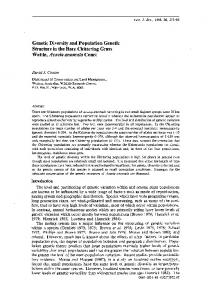 Genetic Diversity and Population Genetic Structure in the Rare ...