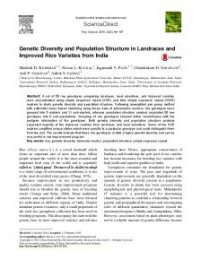 Genetic Diversity and Population Structure in ...