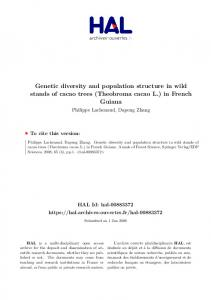 Genetic diversity and population structure in wild stands of cacao ...