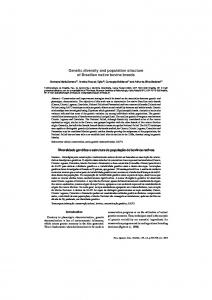 Genetic diversity and population structure of Brazilian native ... - SciELO