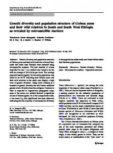 Genetic diversity and population structure of Guinea yams and their ...