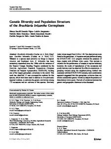 Genetic Diversity and Population Structure of the Brachiaria ... - Ainfo