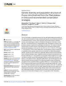 Genetic diversity and population structure of