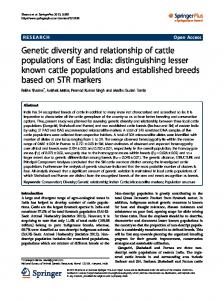 Genetic diversity and relationship of cattle