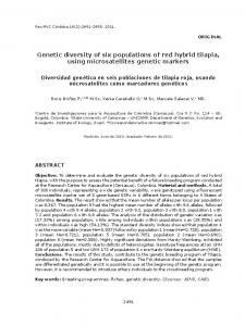 Genetic diversity of six populations of red hybrid tilapia, using