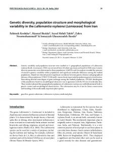 Genetic diversity, population structure and ...