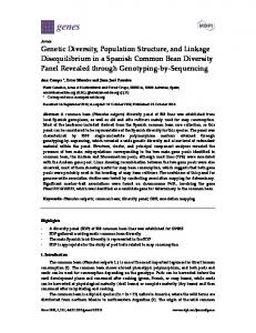 Genetic Diversity, Population Structure, and Linkage ... - MDPI