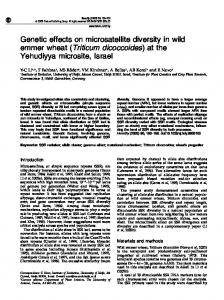 Genetic effects on microsatellite diversity in wild emmer wheat - Nature
