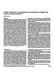 Genetic influences on blood lipids and cardiovascular disease risk ...