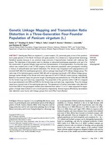 Genetic Linkage Mapping and Transmission Ratio ... - BioMedSearch