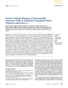 Genetic Linkage Mapping of Economically ... - Semantic Scholar