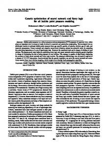 Genetic optimization of neural network and fuzzy ... - Semantic Scholar