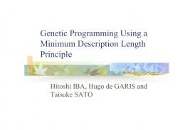 Genetic Programming Using a Minimum Description Length ... - aiecon