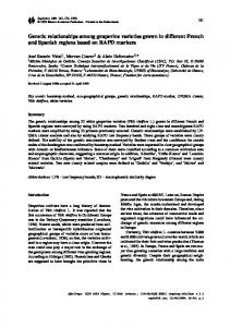 Genetic relationships among grapevine varieties ... - Springer Link