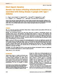 Genetic risk factors affecting mitochondrial ... - Wiley Online Library