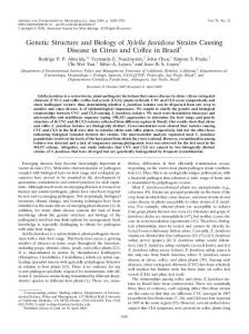 Genetic Structure and Biology of Xylella fastidiosa Strains Causing