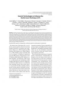 genetic technologies to Enhance the Sterile Insect ... - Moscamed