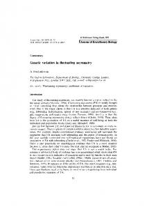 Genetic variation in fluctuating asymmetry - Wiley Online Library