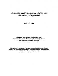 Genetically Modified Organisms (GMOs) and ... - AgEcon Search