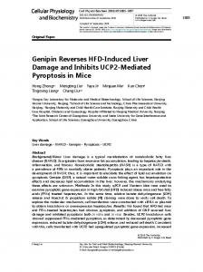 Genipin Reverses HFD-Induced Liver Damage and