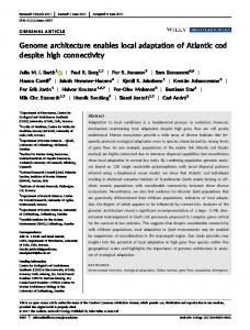 Genome architecture enables local adaptation ... - Wiley Online Library